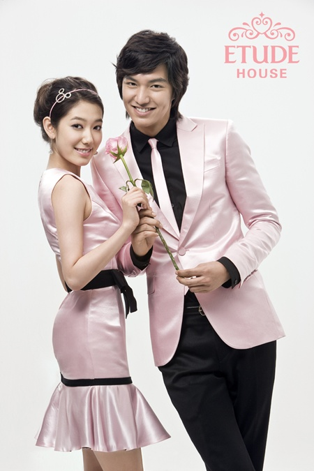 Lee Min Ho & Park Shin Hye in Etude.