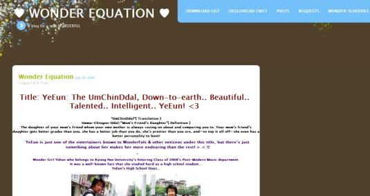 Wonder Equation