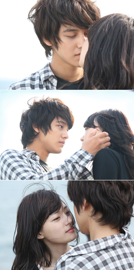 Kim Bum and Kim Byul's kissing scenes.