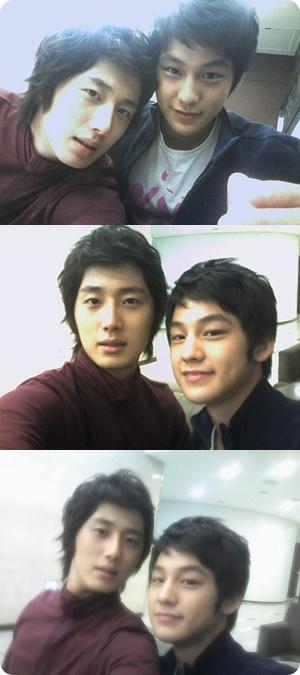 Kim Bum and Jung Il Woo selca