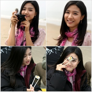 So Eun filming MV- eating 'KimBap'