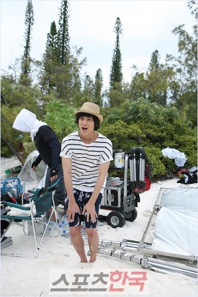 Kim Bum in stripes