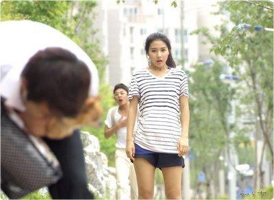Kim So Eun in stripes