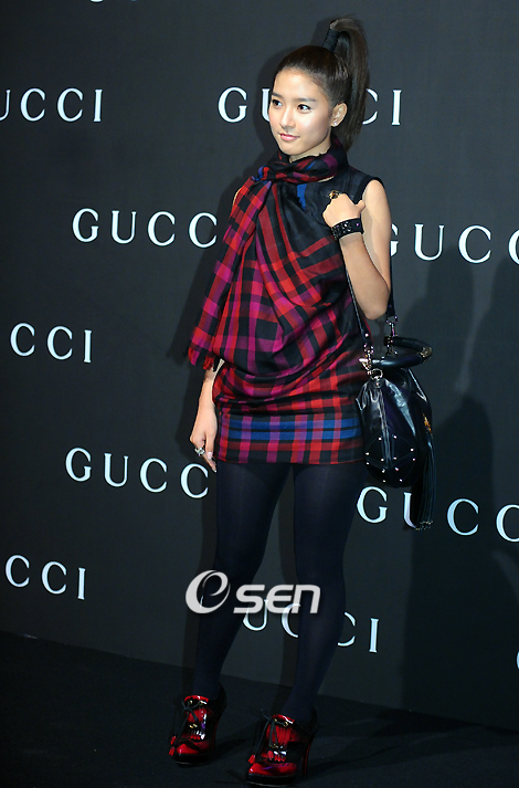 Kim So Eun at Gucci Fashion Show