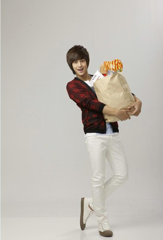 Kim Bum did groceries.