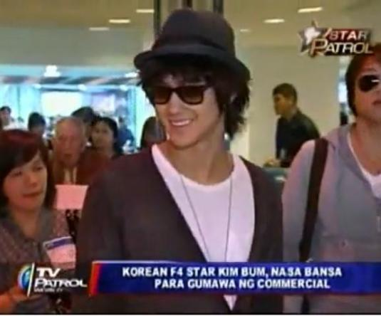 Kim Bum in Manila, Phillipines