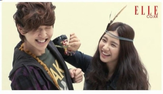 Kim So Eun and Onew of SHINee